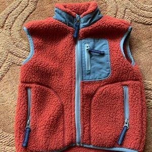 EUC red Hanna Andersson plush fleece vest